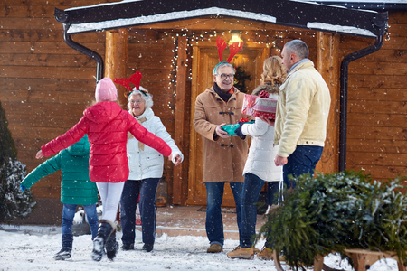 65326641 - welcome family for christmas celebration