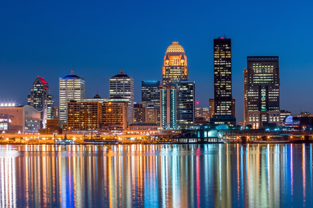 66544306 - view of skyline downtown louisville in kentucky usa