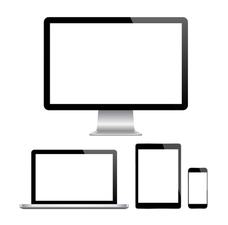 42814202 - modern monitor, computer, laptop, phone, tablet