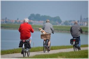 Seniors Bicycling